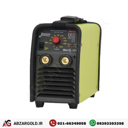 دستگاه اینورتر جوشکاری 200 آمپر گام الکتریک (جوشا) مدل Mini-EL 202 |